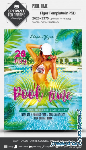 Pool Time V7 2019 PSD Flyer Template