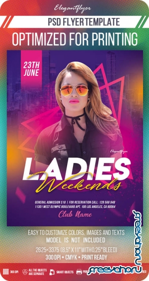 Ladies Weekends V7 2019 Flyer Template in PSD