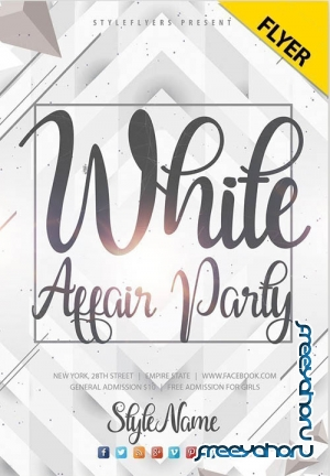 White Affair Party V24_07 2019 Flyer PSD