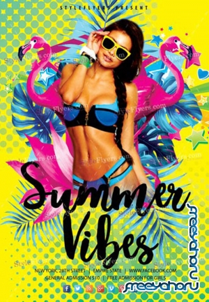 Summer Vibes V18_07 2019 PSD Flyer Template