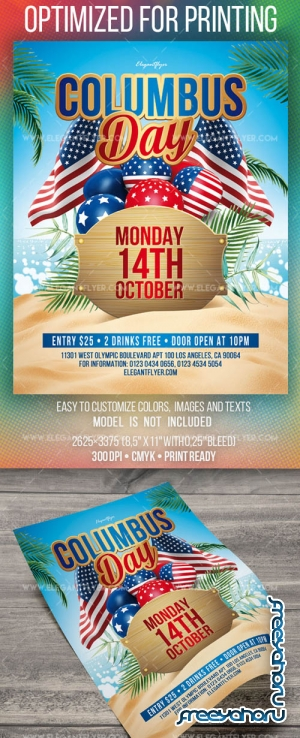 Columbus Day V0708 2019 PSD Flyer Template