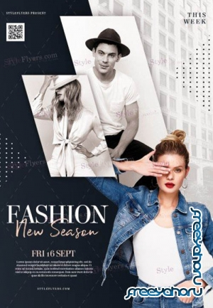 Fashion V1208 2019 PSD Flyer Template