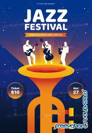 Jazz Festival V2908 2019 PSD Flyer