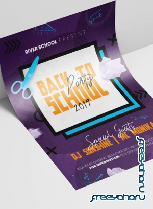 Back to School V3008 2019 Premium PSD Flyer Template