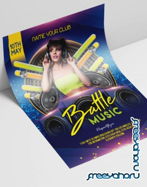 Music Battle V2908 2019 Premium PSD Flyer Template