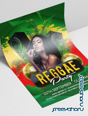 Reggae Party V2908 2019 Premium PSD Flyer Template