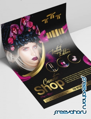 Cosmetic Shop V2908 2019 PSD Flyer Template