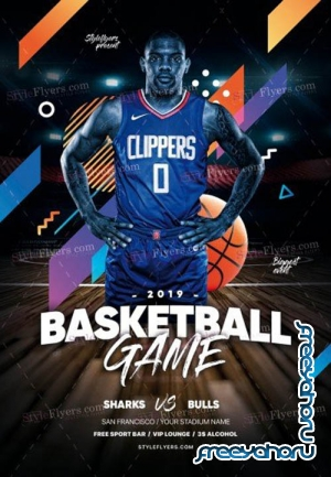 Basketball V1709 2019 PSD Flyer Template