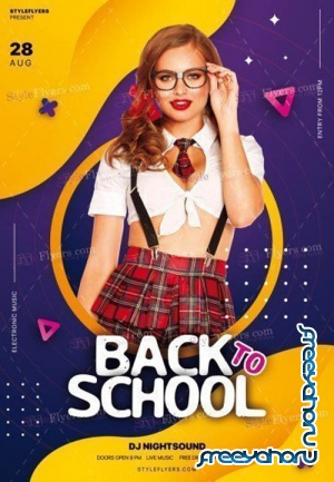 Back To School V1709 2019 PSD Flyer Template