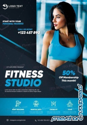 Fitness V1709 2019 PSD Flyer Template