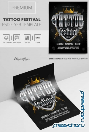 Tattoo Festival V1809 2019 Premium PSD Flyer Template