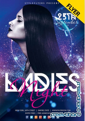 Ladies Night Flyer V2409 2019 PSD Flyer Template
