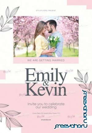 Wedding V2309 2019 PSD Flyer Template