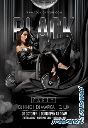 Black Party V2709 2019 Premium PSD Flyer Template