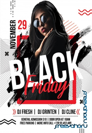 Black Friday V2709 2019 Premium PSD Flyer Template
