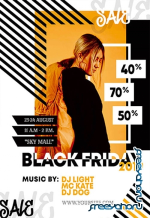 Black Friday V0210 2019 Premium PSD Flyer Template