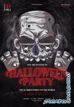 Halloween Party V0410 2019 PSD Flyer Template