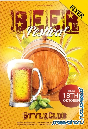 Beer Festival V0410 2019 PSD Flyer Template
