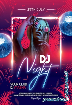 DJ Night V1010 2019 Premium PSD Flyer Template