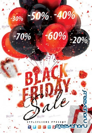 Black Friday Sale V2810 2019 PSD Flyer Template