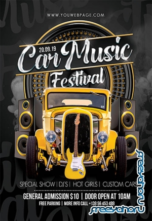 Car Music Festival V3110 2019 Premium PSD Flyer Template