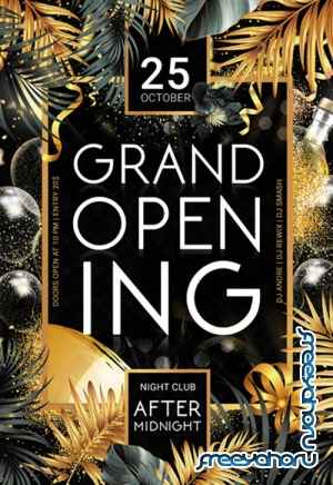 Grand Opening V0711 2019 Premium PSD Flyer Template