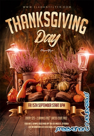 Thanksgiving Day V0611 2019 Premium PSD Flyer Template