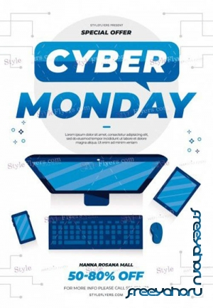 Cyber Monday V0911 2019 PSD Flyer Template
