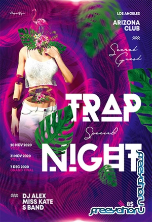 Trap Night V2211 2019 Premium PSD Flyer Template