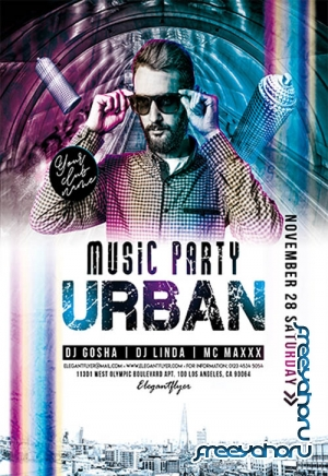Urban Music Party V2211 2019 Premium PSD Flyer Template