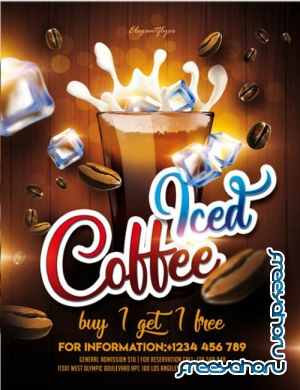 Iced Coffee V1201 2020 Premium PSD Flyer Template